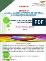 SESION 10 CONSEJO INTERVENCION BREVE Y EN CRISIS 2015