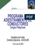 Programa Para El Adiestramiento de Conductores de Cargas Peligrosas