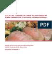 Efectos del consumo de carne vacuna argentina sobre parámetros clínicos de individuos sanos