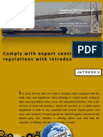 Comply with Export Control Regulations with Intredex