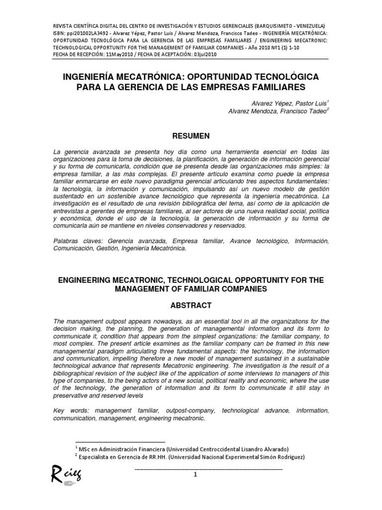 Ingenieria Mecatronic