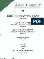 Bach Sonata Sol Menor BWV 1020 PNO