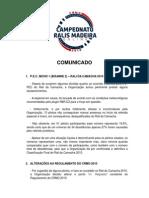 Comunicado - Rali da Camacha 2010