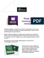 First Aid Homeopathic Remedies Pisios