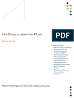 5 Things to learn from FT.com