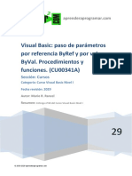CU00341A Paso Parametros Argumento Referencia ByRef Valor ByVal Visual Basic