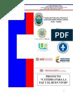 Proyecto Interinstitucional Cátedra Para La Paz 2016