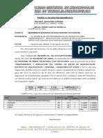Informe Nº 001 Reinformequer. de Personal de Obra