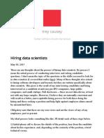 Trey Causey – Hiring Data Scientists