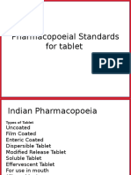 Pharmacopoeial Standards for Tablet