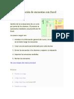 Envío y Recepción de Encuestas Con Excel