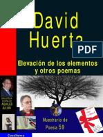 ELEVACIÓN DE LOS ELEMENTOS, POR DAVID HUERTA