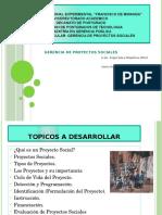 Presentación de La Clase Magistral de Gerencia de Proyectos Sociales.