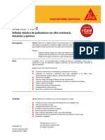 Sellador Eljastico Poliuretano Alta Resistencia Quimica Sikaflex Pro 3 Wf