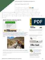 Diseño Hidráulico Canal de Irrigación _ Civil Excel_Planillas Excel Para Ingeniería Civil