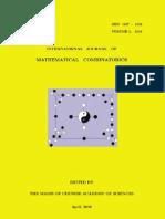 International Journal of Mathematical Combinatorics, Vol 1, 2010