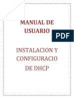 Manual de Usuario - Dhcp
