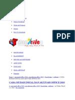 Cara Aktivasi Ms Office 2010