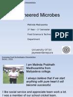 Bioengineered Microbes