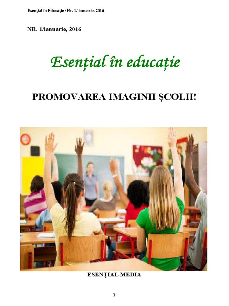 Esential in Educatie, Promovarea Imaginii Scolii, ianuarie