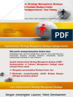 Implementation of Cultures Management Strategy