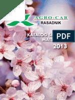 Katalog Voćnih Vrsta AGRO CAR 2013