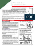 Honeywell CDMA-X - Quick Install Guide