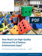 How Much Can High-Quality Universal Pre-K Reduce Achievement Gaps?