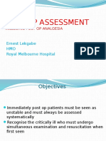 Post Op Assessment Surgery