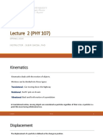 Lecture 2 Physics 107