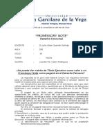 Promissory Note como título de Ejecución en el Perú