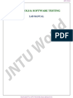 Case Tools Software Testing Lab Manual