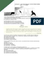 Recuperação de Língua Portuguesa Prof