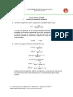 Taller Primer Examen Control de Procesos UIS