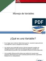 4 Clase Tipos de Datos, Variables y Procedimientos