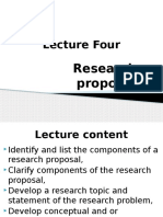 Lecture 4 Research Proposal