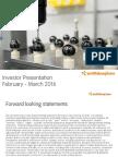 Smith and Nephew Investor Presentation - Final