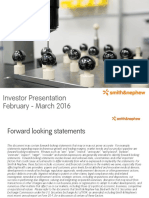Smith and Nephew Investor Presentation - Final
