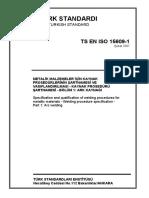 TS EN ISO 15609-1, Şubat 2007