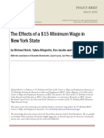 The Effects of a $15 Minimum Wage in New York
