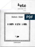 Herberto Helder - O Corpo, o Luxo, A Obra (Contraponto, 1978)