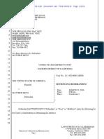 Matthew Keys Sentencing Memorandum (Rebuttal)