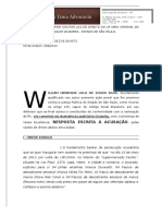 Defesa Preliminar Art 155 CPP