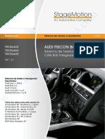AUDI A4 - FISCON-Telefonia BT Audi Manual & Accesorios (ES v4.0)