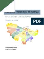 17. RENDICION DE CUENTAS La Candelaria 2015