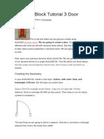 Dynamic Block Tutorial 3 Door