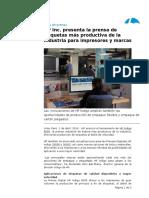 HP Inc. presenta la prensa de etiquetas más productiva de la industria para impresores y marcas