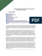Seguridad e Higiene Del Trabajo en Los Servicios Medicos y de Salud