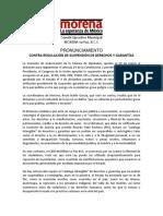 Pronunciamiento Suspension Garantias Abril-2016