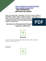 Servicios de Carga y Transporte en toda la República Mexicana y Estados Unidos (USA)